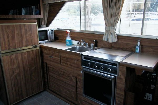 yacht rental kitchen